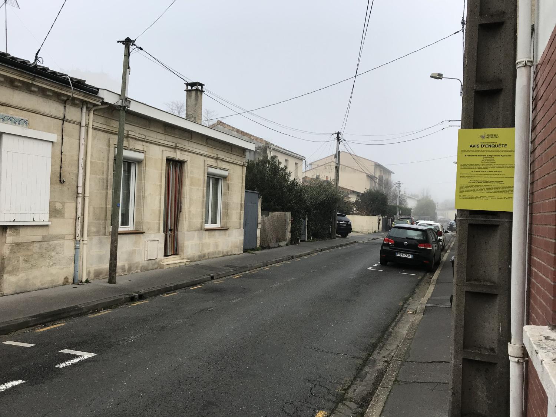 La rue Chaumet : le projet de modification du plan d'alignement est soumis à enquête publique par Bordeaux Métropole du 29 janvier au 12 février 2018