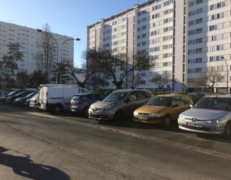 Partie du trottoir de la rue François Lévêque à déclasser