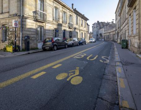 Aménagements provisoires opérés rue de Bègles