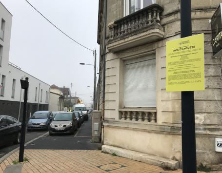 La rue Etchenique : le projet de modification du plan d'alignement est soumis à enquête publique par Bordeaux Métropole du 29 janvier au 12 février 2018