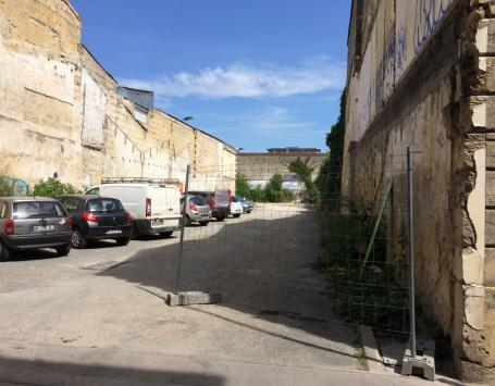 Parcelle RH 141, située rue Barreyre à Bordeaux, objet de l'enquête publique pour déclassement du domaine public routier de Bordeaux Métropole