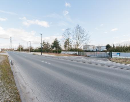 L'avenue de la Jallère au nord du site de projet