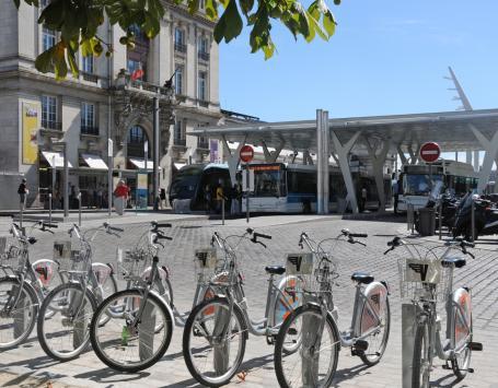 Illustration  des modes de déplacement de la gare Saint Jean