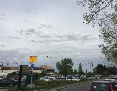 Vue depuis rue Eiffel (côté avenue Thiers)