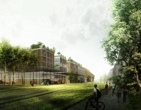 Esquisse des futurs logements sur la Brazzaligne (Bordeaux)