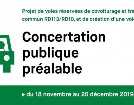 Visuel de la concertation RD113/RD10 organisée par le département de la Gironde