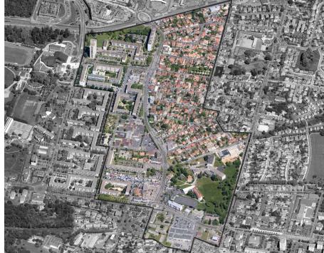 Vue aérienne du secteur Camille Pelletan à Cenon Copyright : Bordeaux Métropole