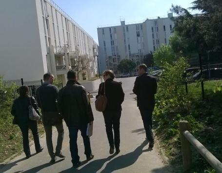 Photo du secteur Saraillère à Cenon, dans le cadre de la concertation organisée depuis juillet 2017 par Bordeaux Métropole sur le projet de renouvellement urbain du quartier Palmer-Saraillère-8 mai 1945.