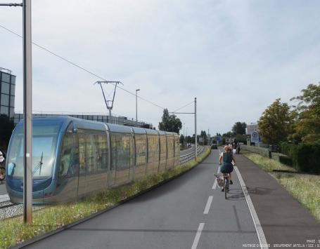 Projet d'extension du tramway A vers Bordeaux Mérignac