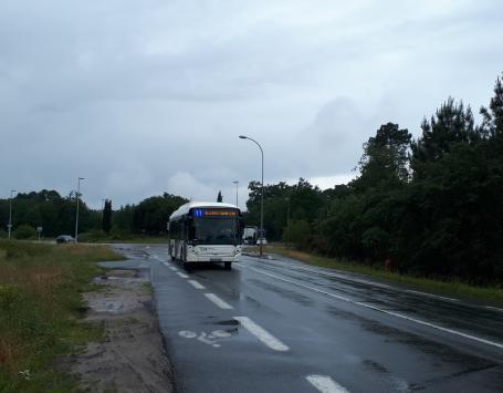 Vue existante du giratoire Marchegay depuis l'avenue Marcel Dassault