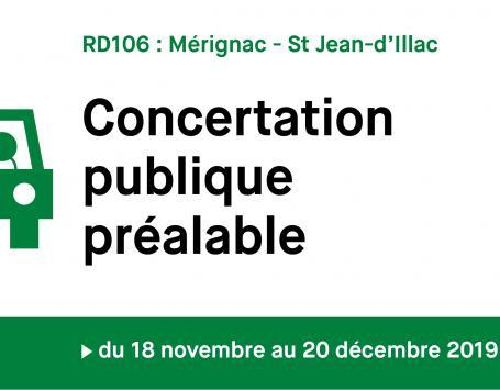 Visuel de la  Concertation RD106 organisée par le département de la Gironde.