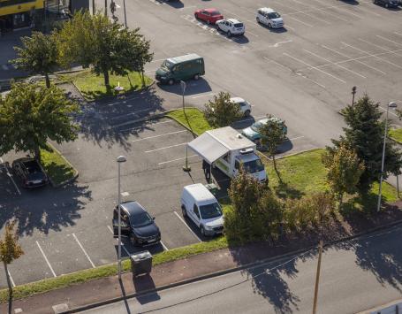 Food-truck sur un parking