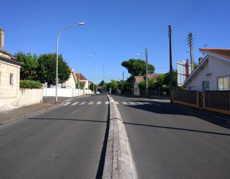 La rue Chateaubriand en 2x2 voies
