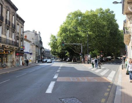 La place des Martyrs de la résistance à Bordeaux centre