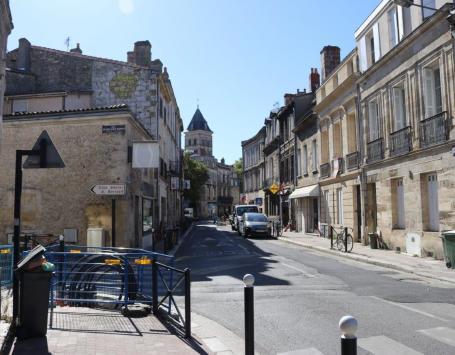 La rue Capdeville à Bordeaux centre