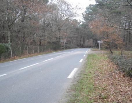 La route de Cujac et le secteur dit « des Vignes » à Saint-Aubin de Médoc