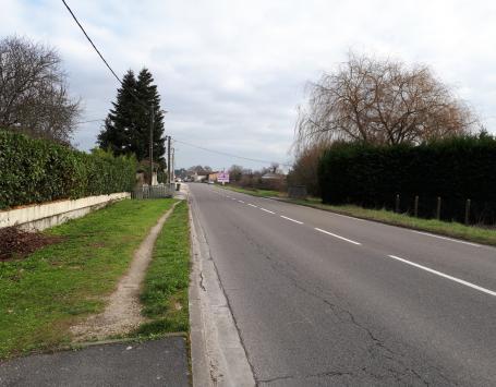 Les cheminements ne sont actuellement pas assurés sur l'avenue Blaise Pascal