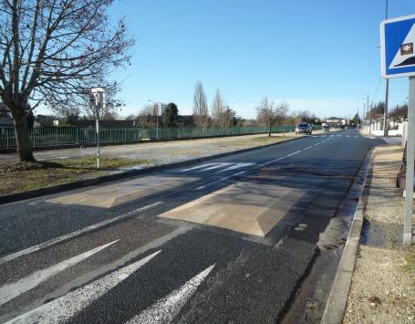 Tronçon central de l'avenue Bourlaux à Villenave d'Ornon