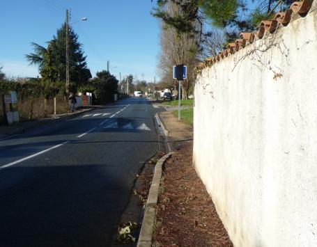 Tronçon Ouest de l'avenue Bourlaux à Villenave d'Ornon