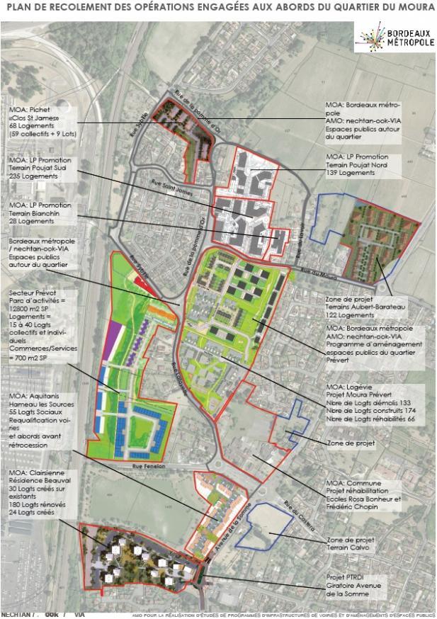 Ensemble des projets de construction ou de renouvellement urbain sur les quartiers nord de Bassens