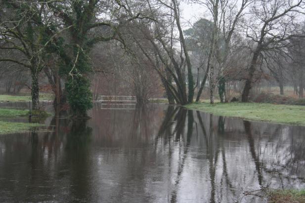 Inondation au Moulin du Thill (domaine des Sources à Saint-Médard en Jalle)