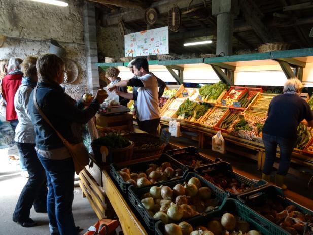 Vente de légumes chez le producteur