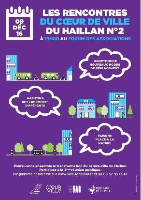 Affiche des Rencontres du coeur de ville (09dec2016)