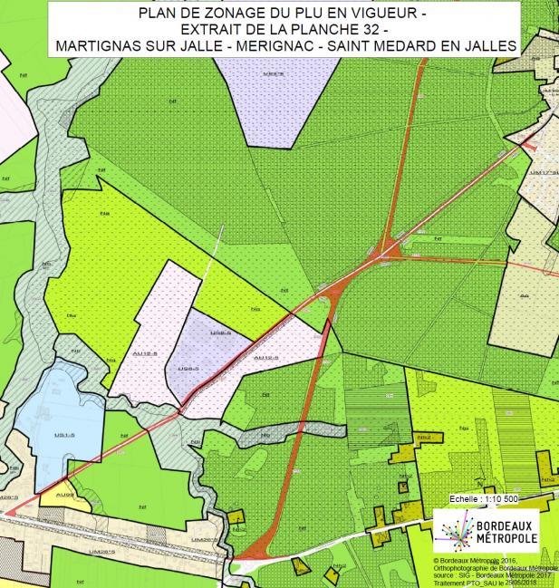Plan de situation des aménagements routiers projetés.